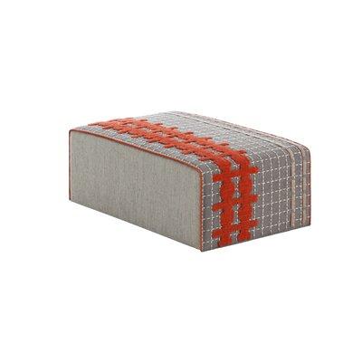 Bandas Space Big E Ottoman Upholstery: Gray