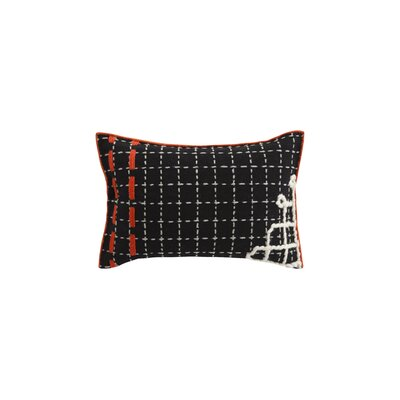 Bandas Space D Wool Lumbar Pillow Color: Black