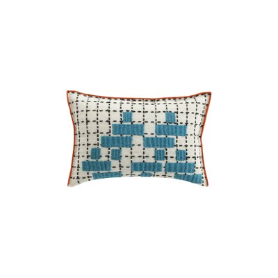 Bandas Space C Wool Lumbar Pillow Color: Turquoise