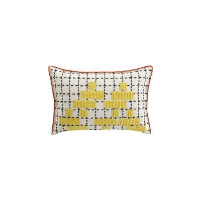 Bandas Space C Wool Lumbar Pillow Color: Yellow