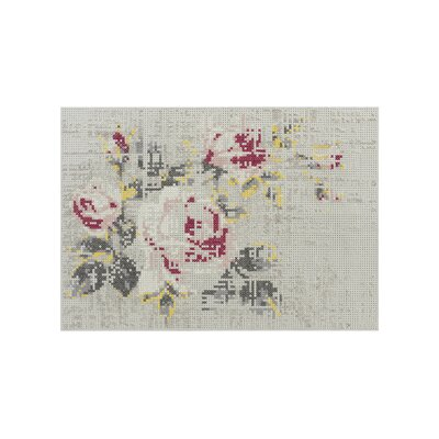 Canevas Flowers Naturales Area Rug Rug Size: 28 x 49