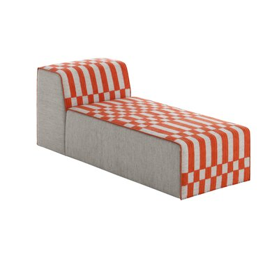 Bandas Chaise Lounge Upholstery: Orange