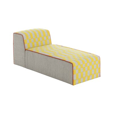 Bandas Chaise Lounge Upholstery: Yellow
