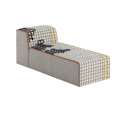Bandas Space D Chaise Lounge Upholstery: White