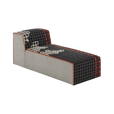 Bandas Space D Chaise Lounge Upholstery: Black