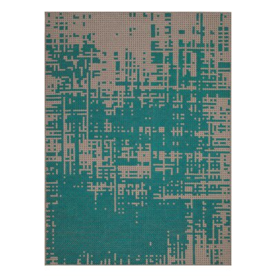 Canevas Abstract Green / Dark Felt Area Rug Rug Size: 57 x 711