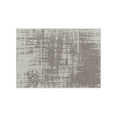 Canevas Abstract Silver Light Area Rug Rug Size: 28 x 49