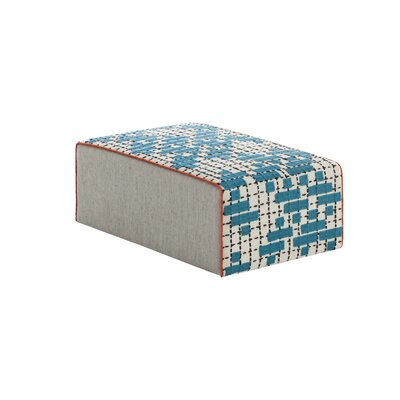 Bandas Space Ottoman Upholstery: Turquoise