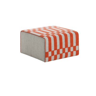 Bandas Space Small B Ottoman Upholstery: Orange