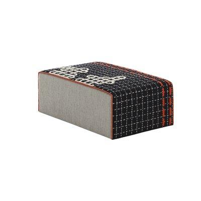 Bandas Space Big D Ottoman Upholstery: Black