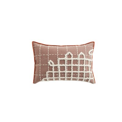 Bandas Space A Wool Lumbar Pillow Color: Pink