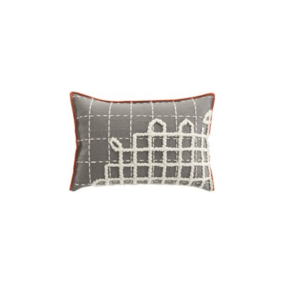 Bandas Space Wool Lumbar Pillow Color: Gray
