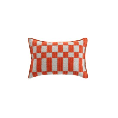 Bandas Space B Wool Lumbar Pillow Color: Orange
