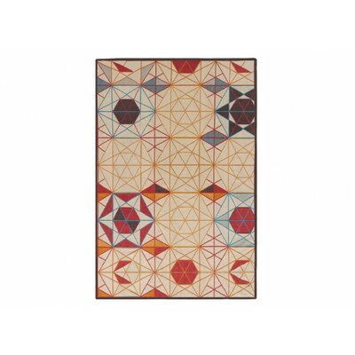 Killim Hexa Handmade Orange Area Rug Rug Size: 57 x 84