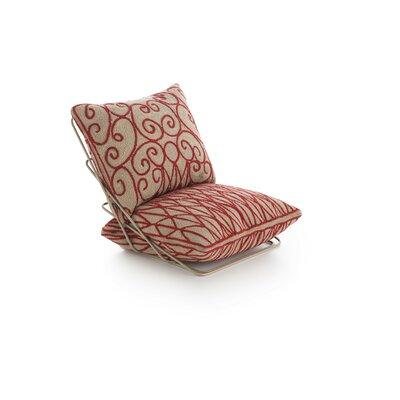Cadeneta Valentino Sillon Lounge Chair Upholstery: Crimson