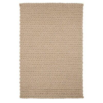 Trenzas Handmade Ivory Area Rug Rug Size: 56 x 79
