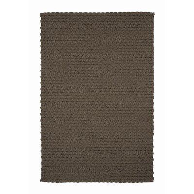 Trenzas Handmade Brown Area Rug Rug Size: 5'6