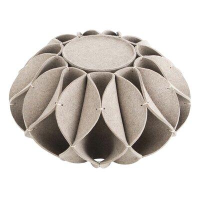 Ruff Pouf Upholstery: Gray