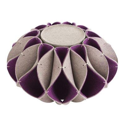 Ruff Pouf Upholstery: Purple