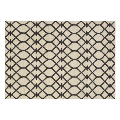 Killim Rodas Handmade Black Area Rug Rug Size: Rectangle 57 x 711