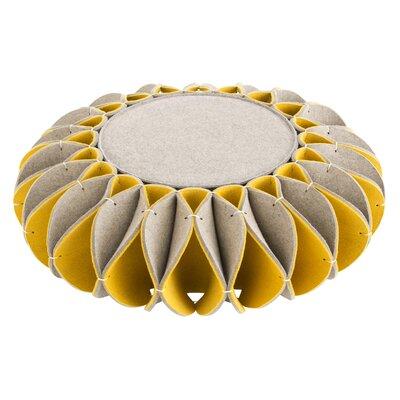Ruff Low Ottoman Upholstery: Yellow