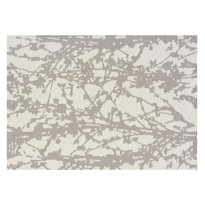 Branch Hand-Tufted Gray Area Rug Rug Size: 5'7