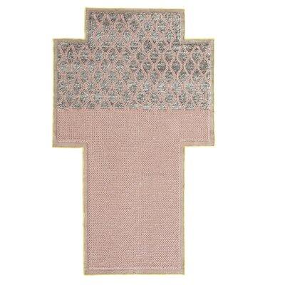 Mangas Space Rhombus Handmade Pink Area Rug Rug Size: Criss Cross 53 x 83
