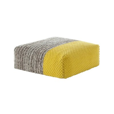 Mangas Space Pouf Upholstery: Yellow
