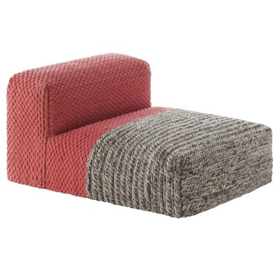 Mangas Space Module Plait Floor Pillow Upholstery: Coral