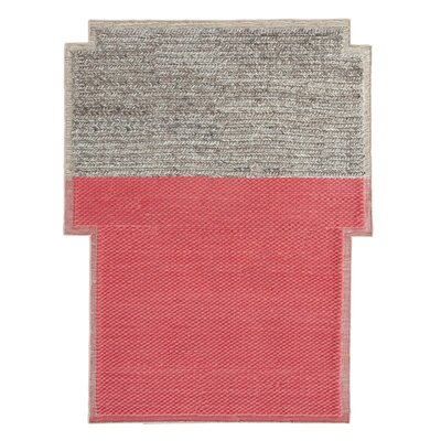 Mangas Space Handmade Plait Coral Area Rug Rug Size: Criss Cross 63 x 83