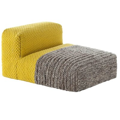 Mangas Space Module Plait Floor Pillow Upholstery: Yellow
