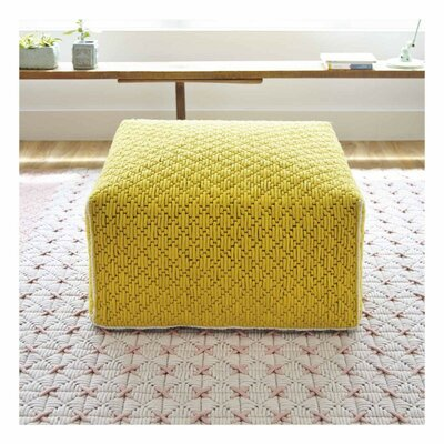 Silai Pouf Upholstery: Yellow