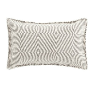 Trenzas Wool Lumbar Pillow Color: Taupe