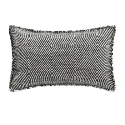Trenzas Wool Lumbar Pillow Color: Negro