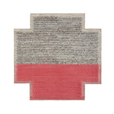 Mangas Space Handmade Plait Coral Area Rug Rug Size: Criss Cross 85 x 85