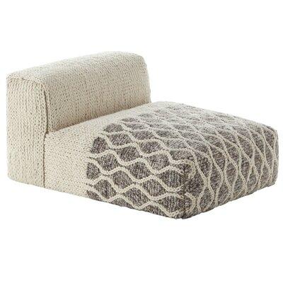 Mangas Space Module Rhombus Floor Pillow Upholstery: Ivory