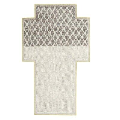 Mangas Space Rhombus Handmade Ivory Area Rug Rug Size: Criss Cross 53 x 83