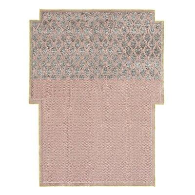 Mangas Space Rhombus Handmade Pink Area Rug Rug Size: Criss Cross 63 x 83