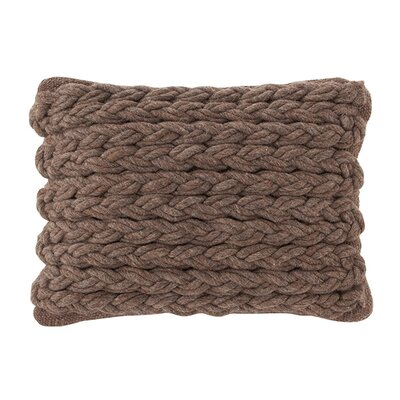 Mangas Space Rhombus Wool Throw Pillow Color: Marron