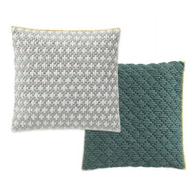 Silai Wool Throw Pillow Color: Celadon - Green