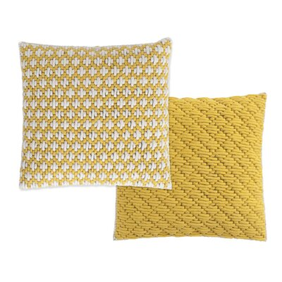 Silai Wool Throw Pillow Color: Yellow
