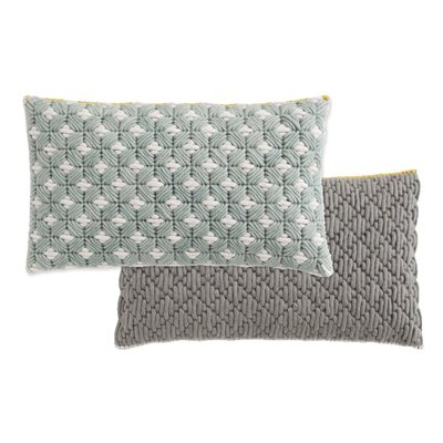Silai Wool Throw Pillow Color: Celadon - Light Gray