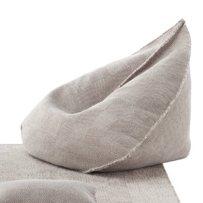 Sail Bean Bag Chair Upholstery: Taupe
