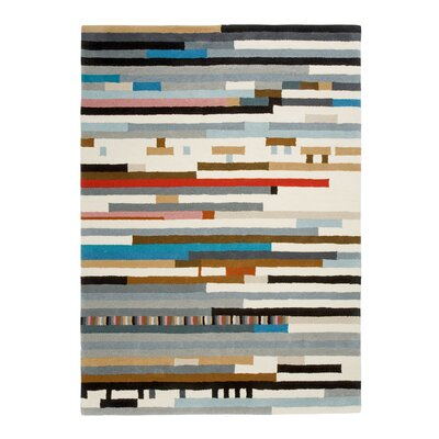 Hand Tufted Lepark Abstract Area Rug Rug Size: 57 x 711