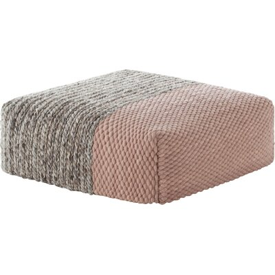 Mangas Space Square Plait Ottoman Upholstery: Pink