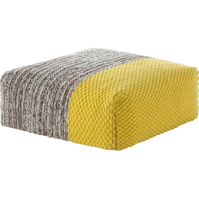 Mangas Space Square Plait Ottoman Upholstery: Yellow