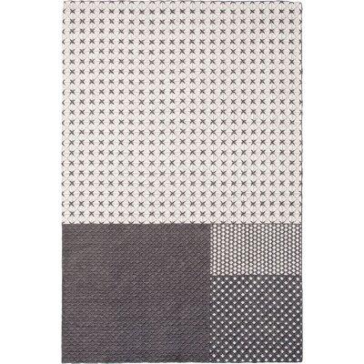 Silai Handmade Gray Area Rug Rug Size: 68 x 910