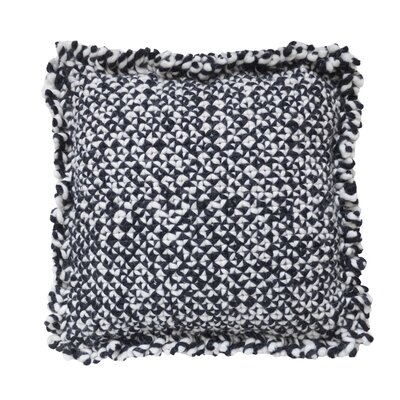 Space Waan Wool Pillow Cover Size: 35 H x 35 W x 13 D, Color: Black/White
