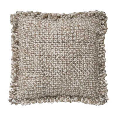 Space Waan Wool Pillow Cover Size: 35 H x 35 W x 13 D, Color: Taupe