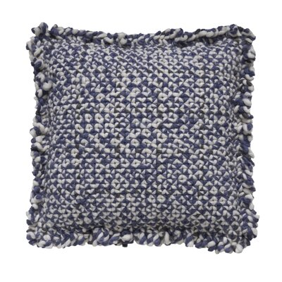 Space Waan Wool Pillow Cover Size: 20 H x 20 W x 4 D, Color: Blue